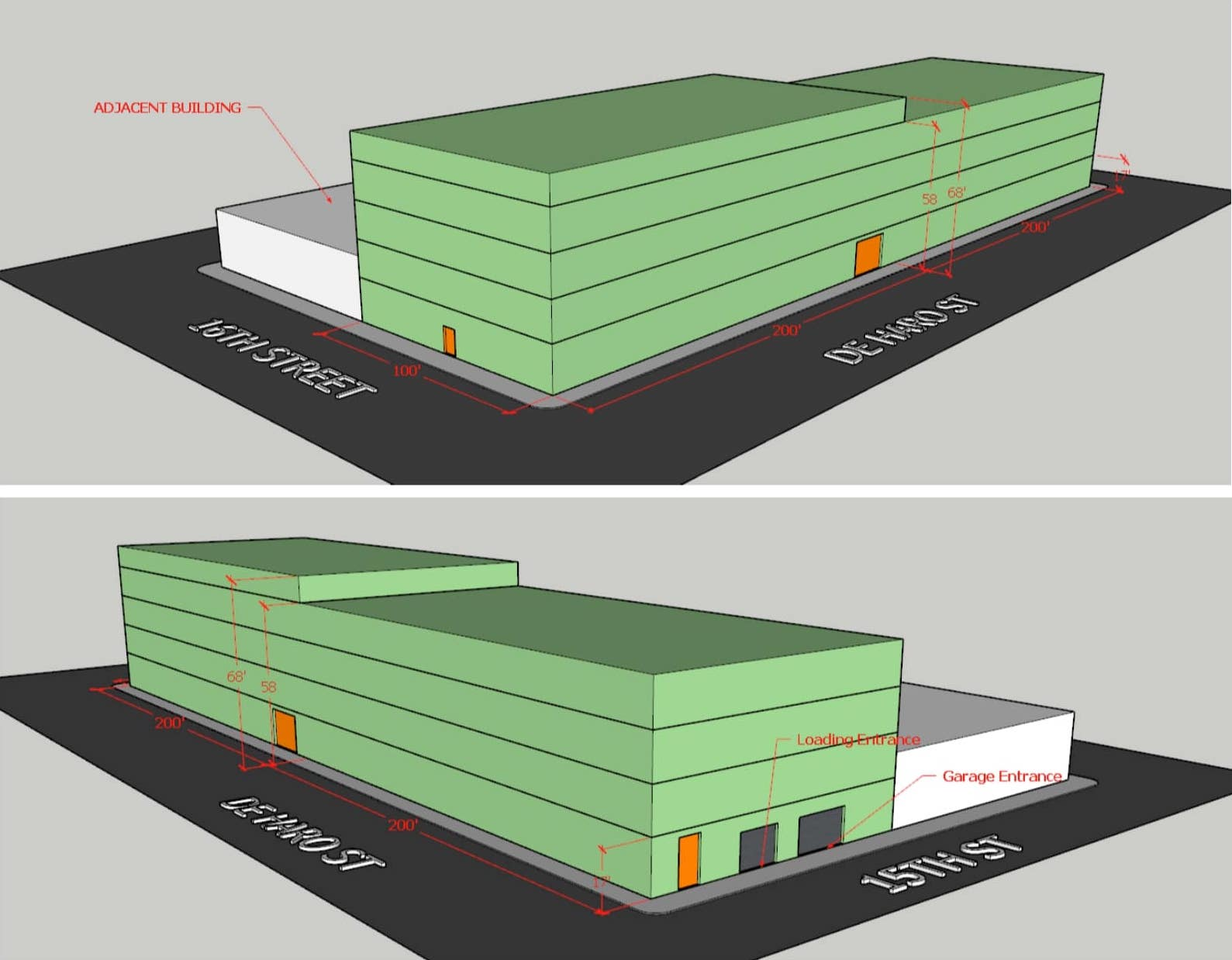 250 De Haro Building Massing Diagram