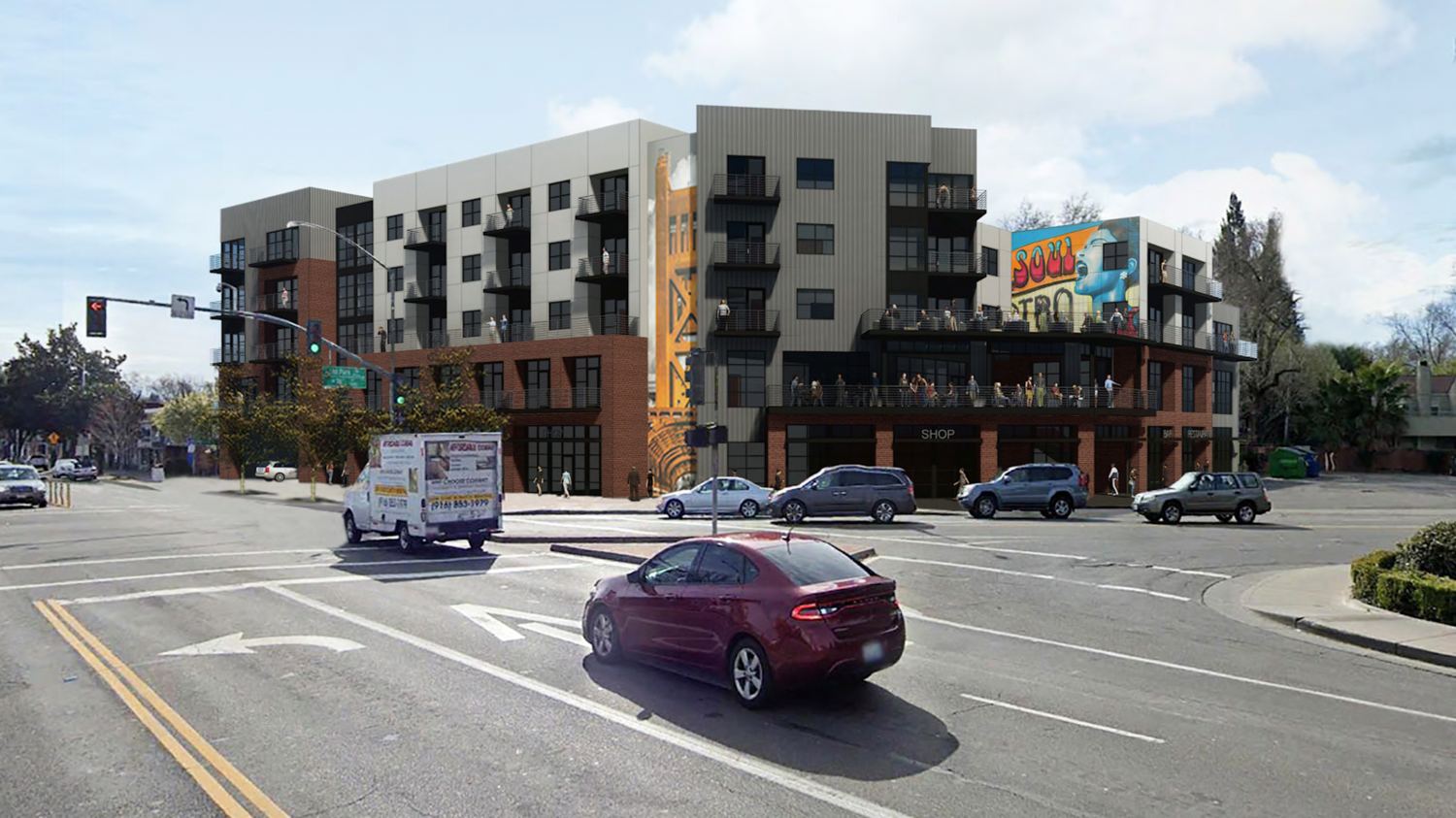 2500 16th Street, rendering by Williams + Paddon
