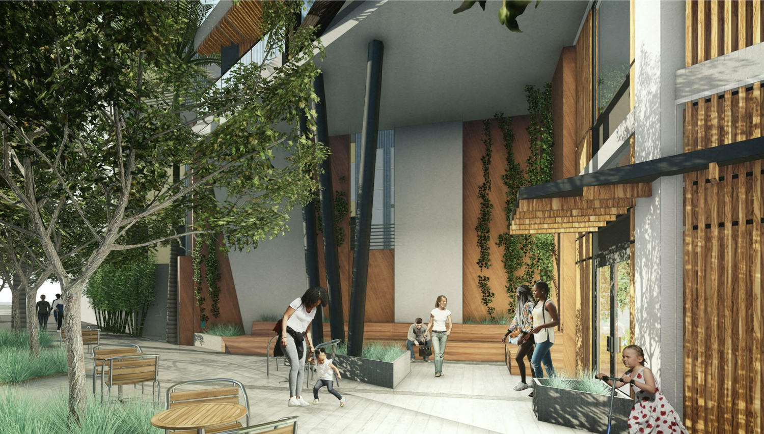 300 De Haro Street covered seating nook, rendering by BAR Architects