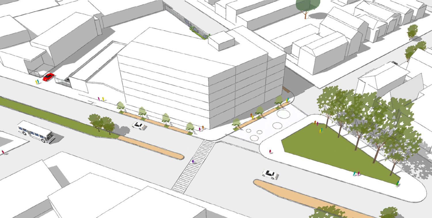3135 San Pablo Avenue aerial view, sketchup by LMS Architects