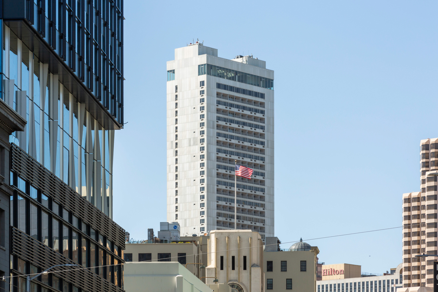 333 O'Farrell Street pinnacle viewed from 5M construction site, image by Andrew Campbell Nelson