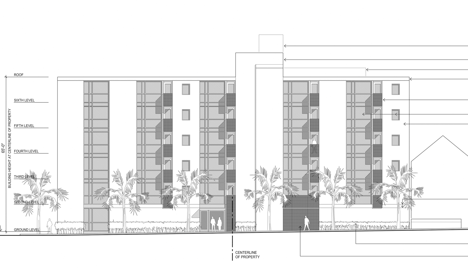 4199 Mission Street south-side elevation, illustration by Gary Gee Architects