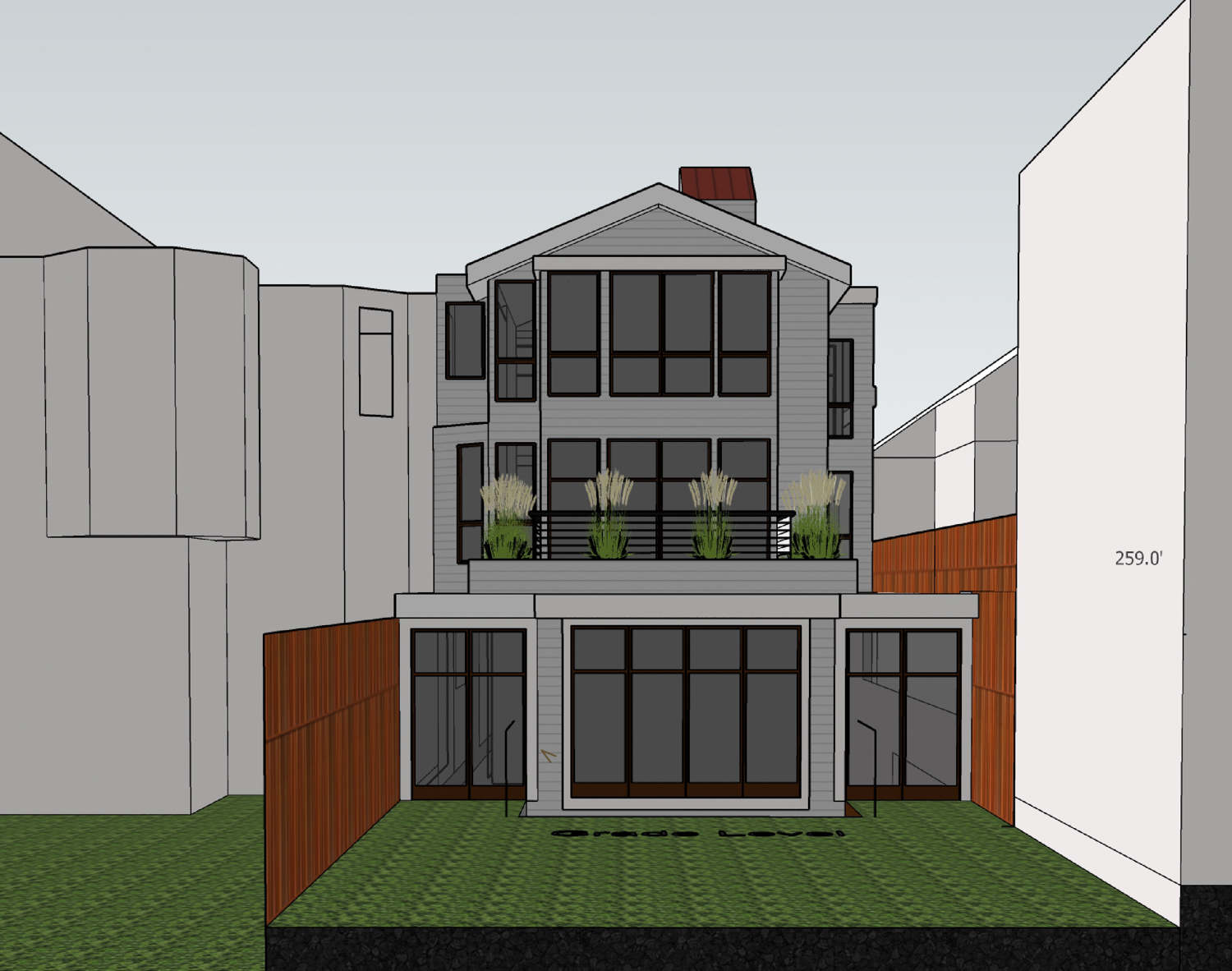 4234 24th Street backyard view, rendering by E.E. Weiss Architects