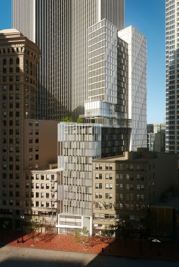 570 Market Street exterior full-structure view, rendering by Danny Forster and Architecture
