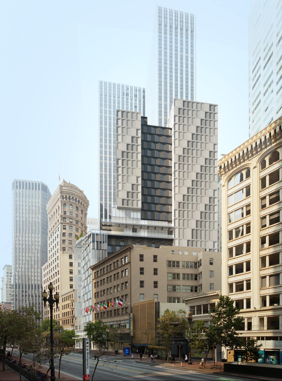 570 Market Street with 44 Montgomery in the background, Danny Forster & Architecture