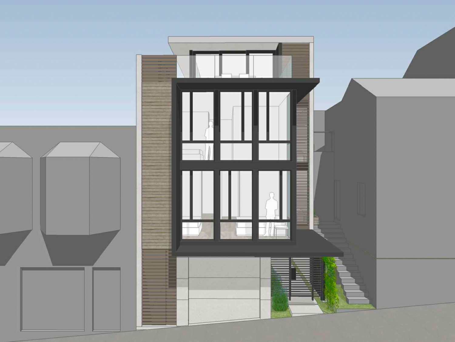 575 Vermont Street head-on view, design by Timbre Architecture