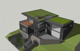 8156 Skyline Boulevard full-build view, rendering by John Clark Architect