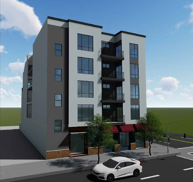 8201 MacArthur Boulevard elevation, design by Zara Construction Group