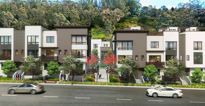 853 Jamestown Avenue straight-on view, design by Hunt Hale Jones Architects
