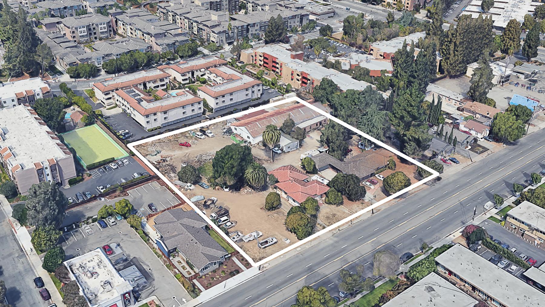 961-971 Meridian Avenue, image via Google Satellite