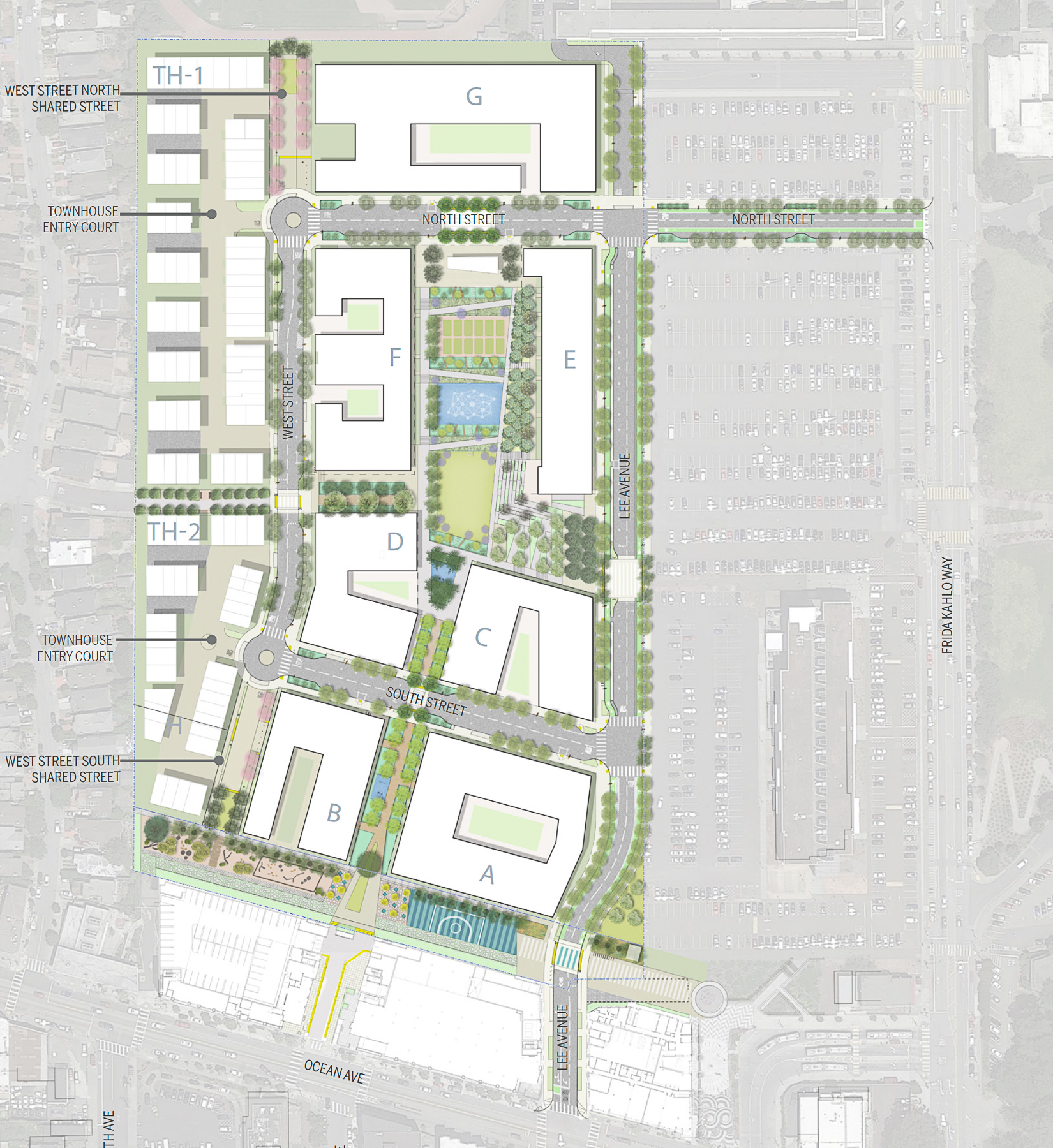 Balboa Reservoir phase one site plan, map by VMWP