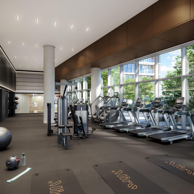 Miro fitness center, rendering courtesy Greystar