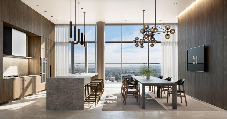 Miro kitchen space, rendering courtesy Greystar