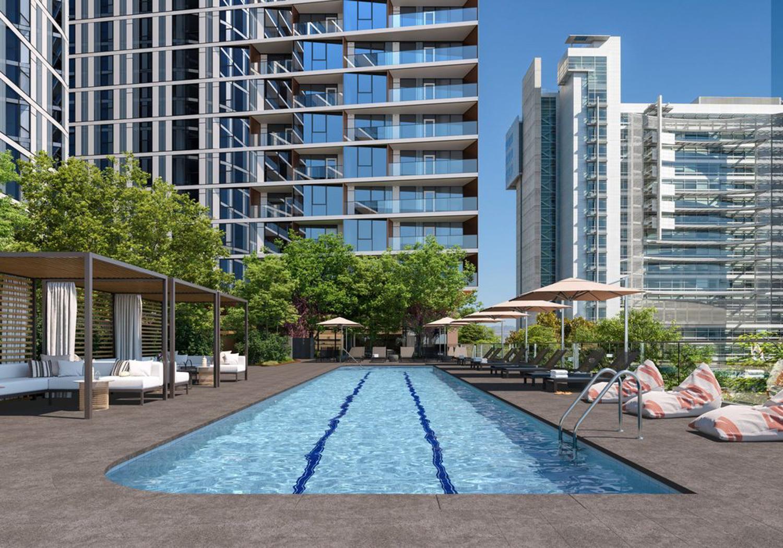 Miro pool, rendering via Greystar