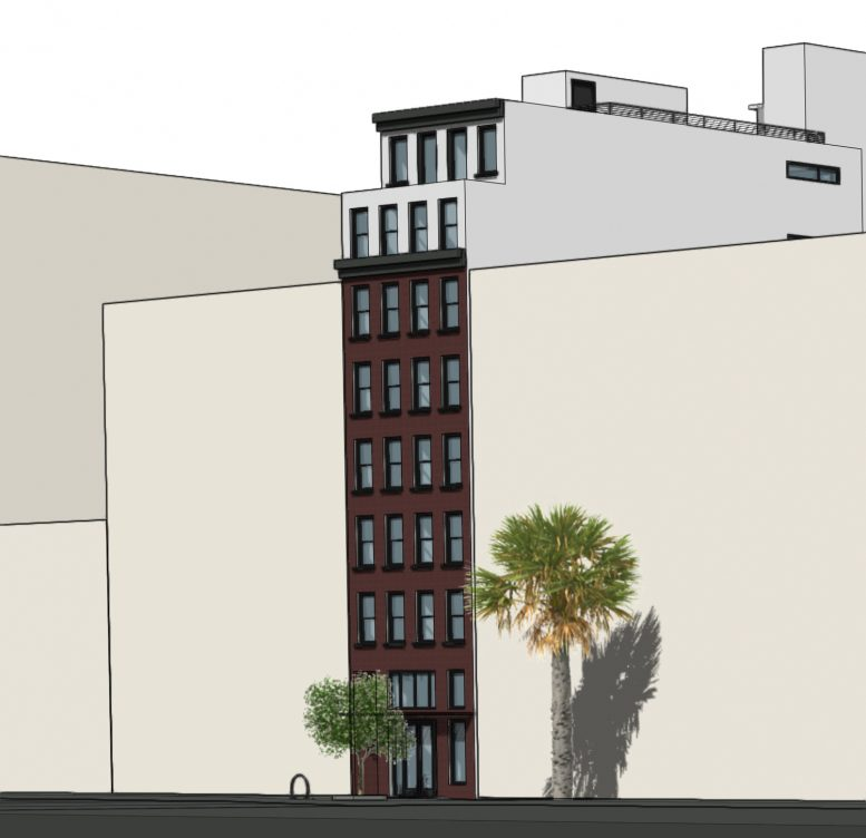 1010 Mission Street facade facing Mission Street, rendering by SIA Consulting