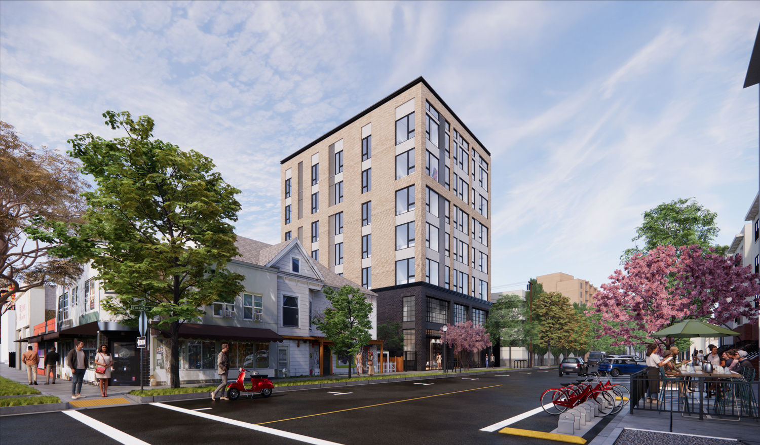 1116 18th Street updated design, rendering by C2K Architecture