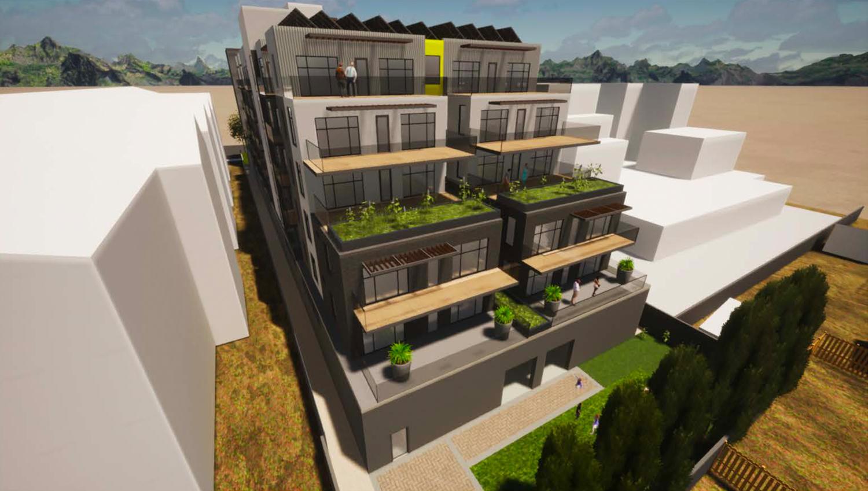 1747 Almaden Road rooftop amenity space, rendering by Mayberry Workshop