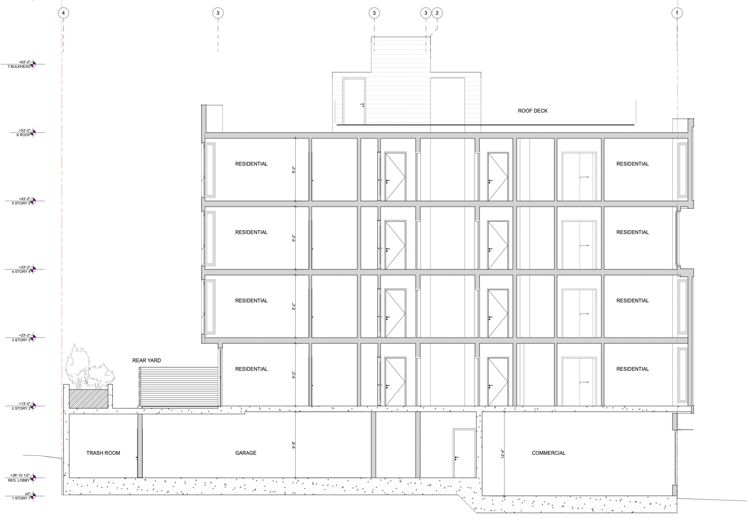 198 Valencia Street cross-section, elevation by RG Architecture