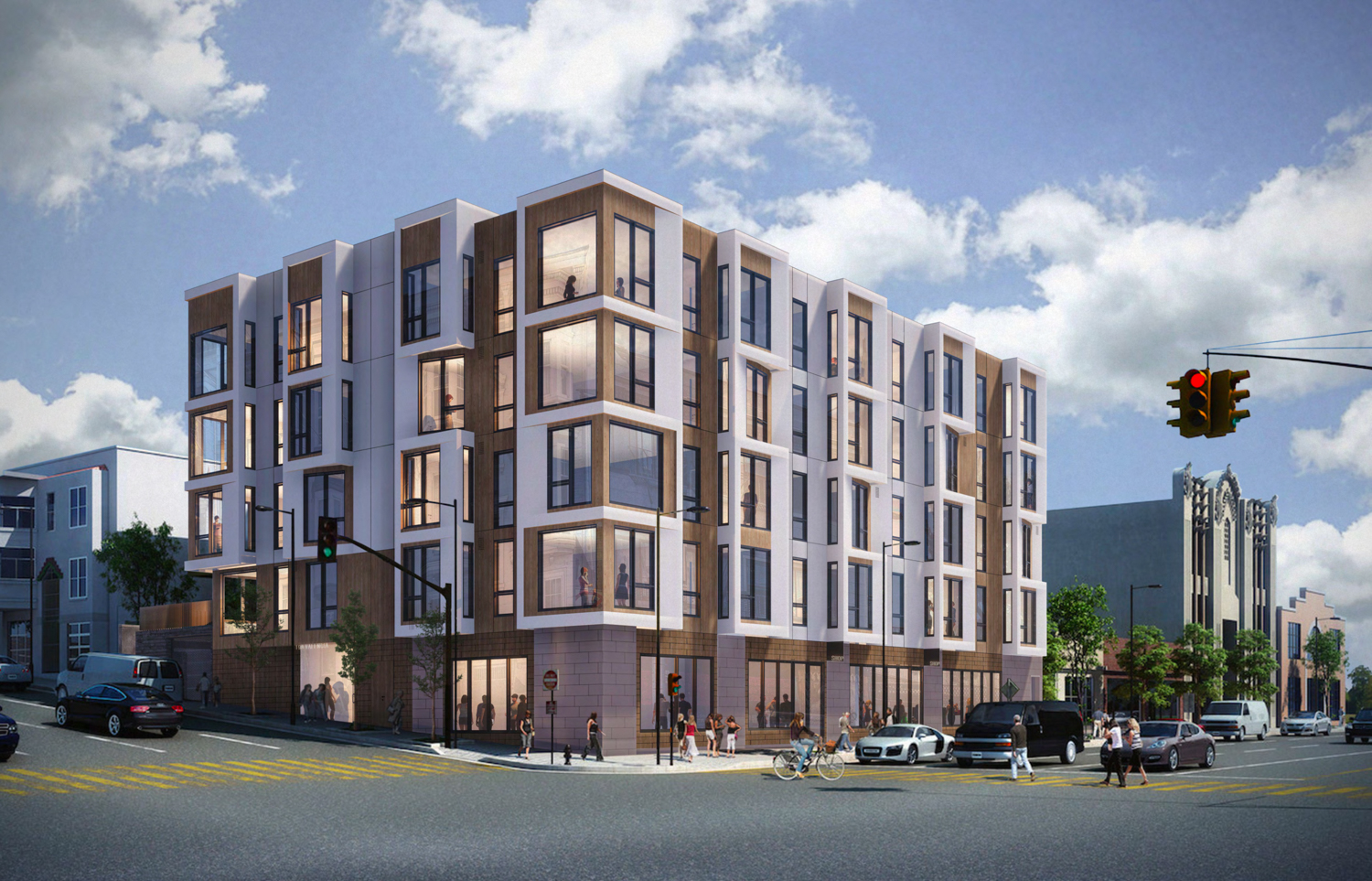 198 Valencia Street updated design, rendering by RG Architecture