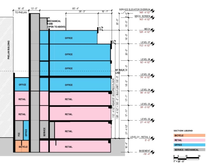 2 Stockton Street Section Explaining Space Usage