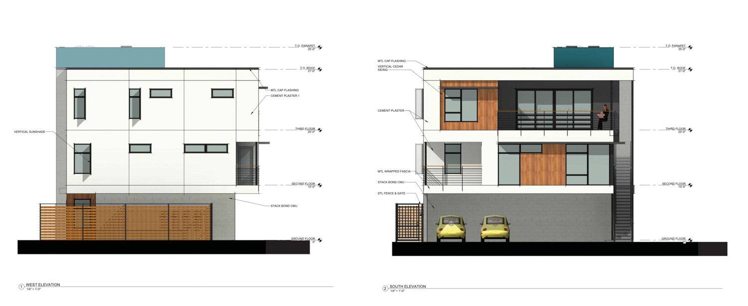 2014 10th Street vertical elevation, rendering by Ellis Architects