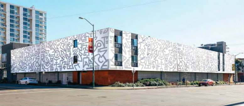 233 Broadway conceptual mural renovation, the final design may differ, illustration by Baran Studio Architecture