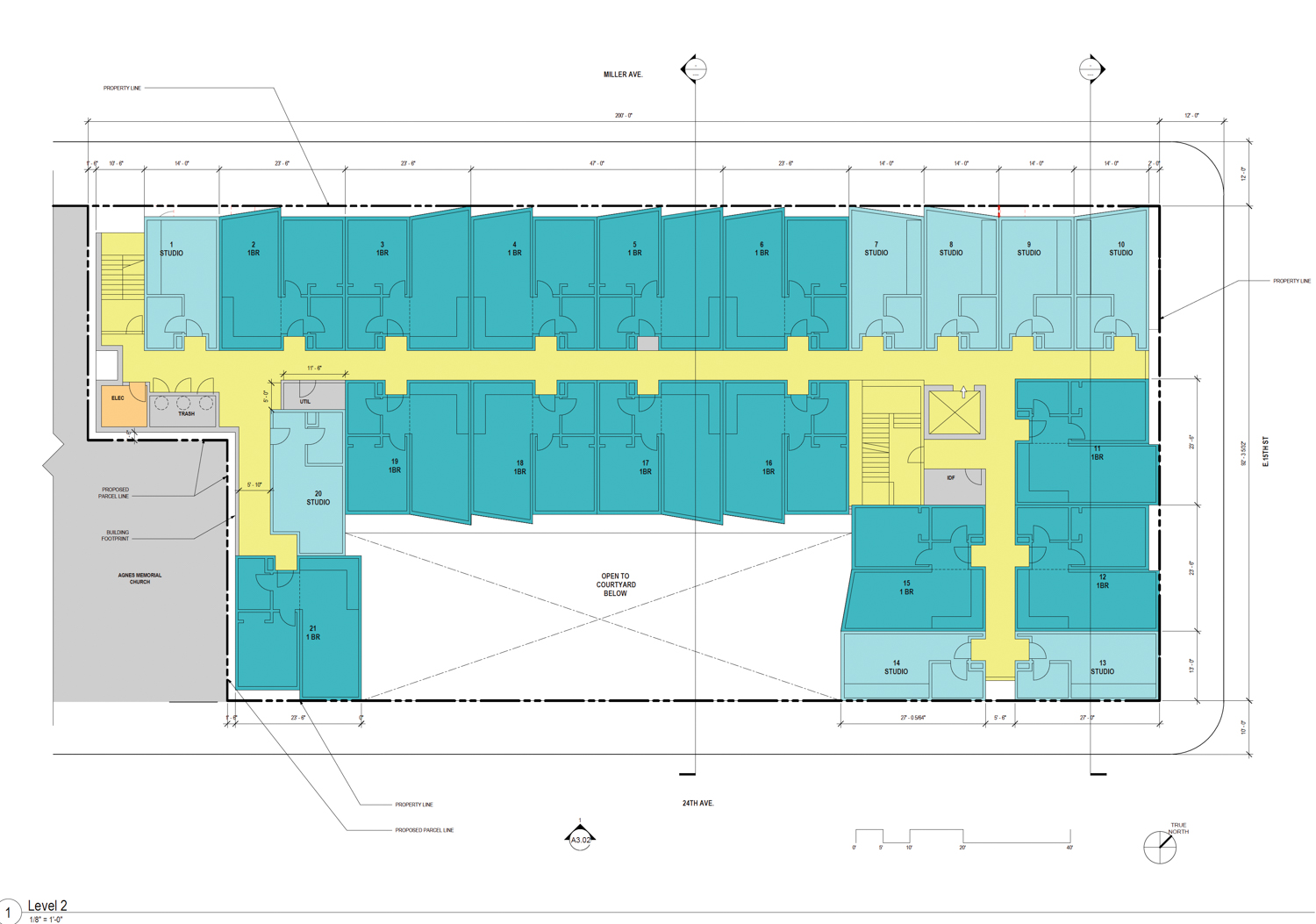 2372 International Boulevard second-level floor plan, rendering by HKIT Architects
