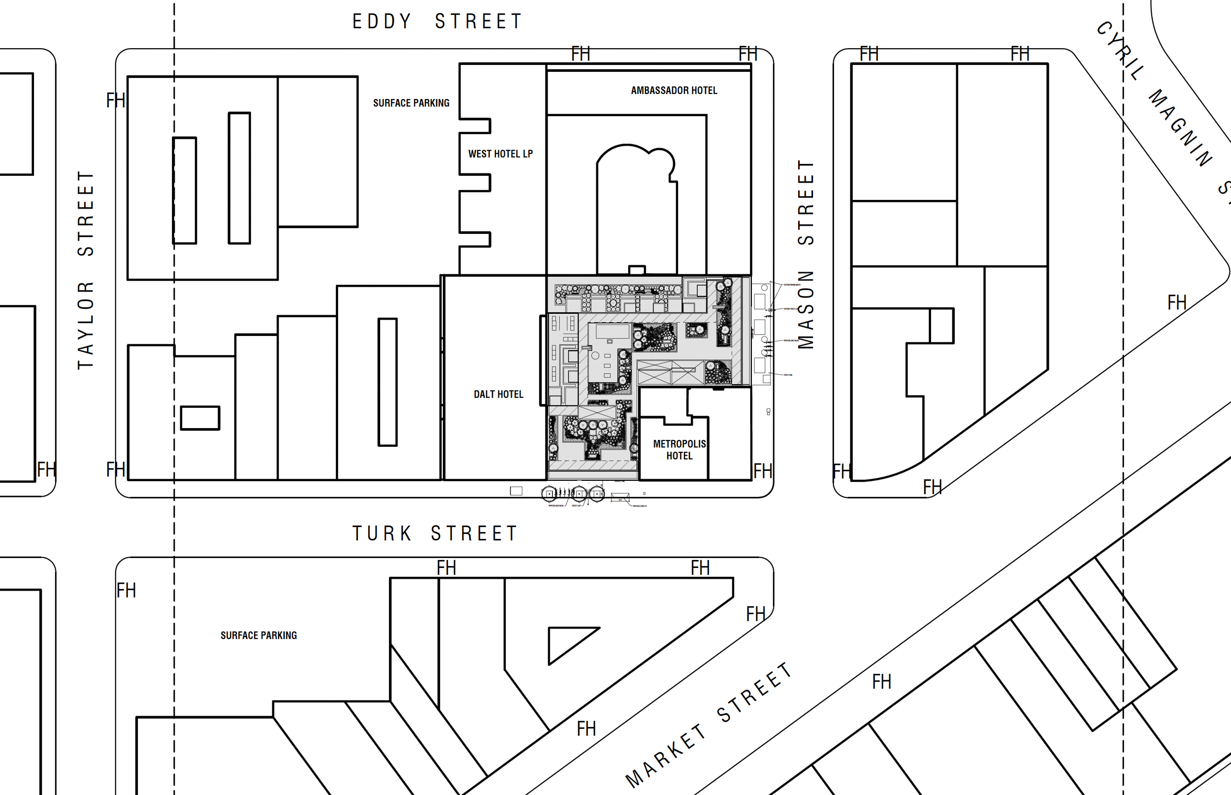 25 Mason Street aerial site map, rendering by Arquitectonica