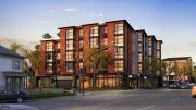 2650 Telegraph Avenue view from Derby Street, rendering by Trachtenberg Architects