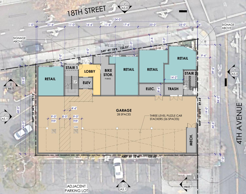 347 East 18th Street floor plan, illustration by Arris Studio Architects