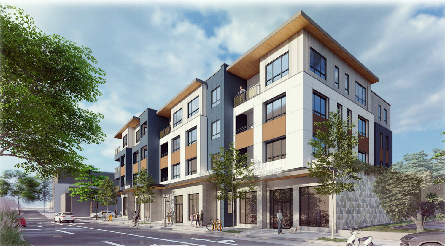 347 East 18th Street view looking south, rendering by Arris Studio Architects