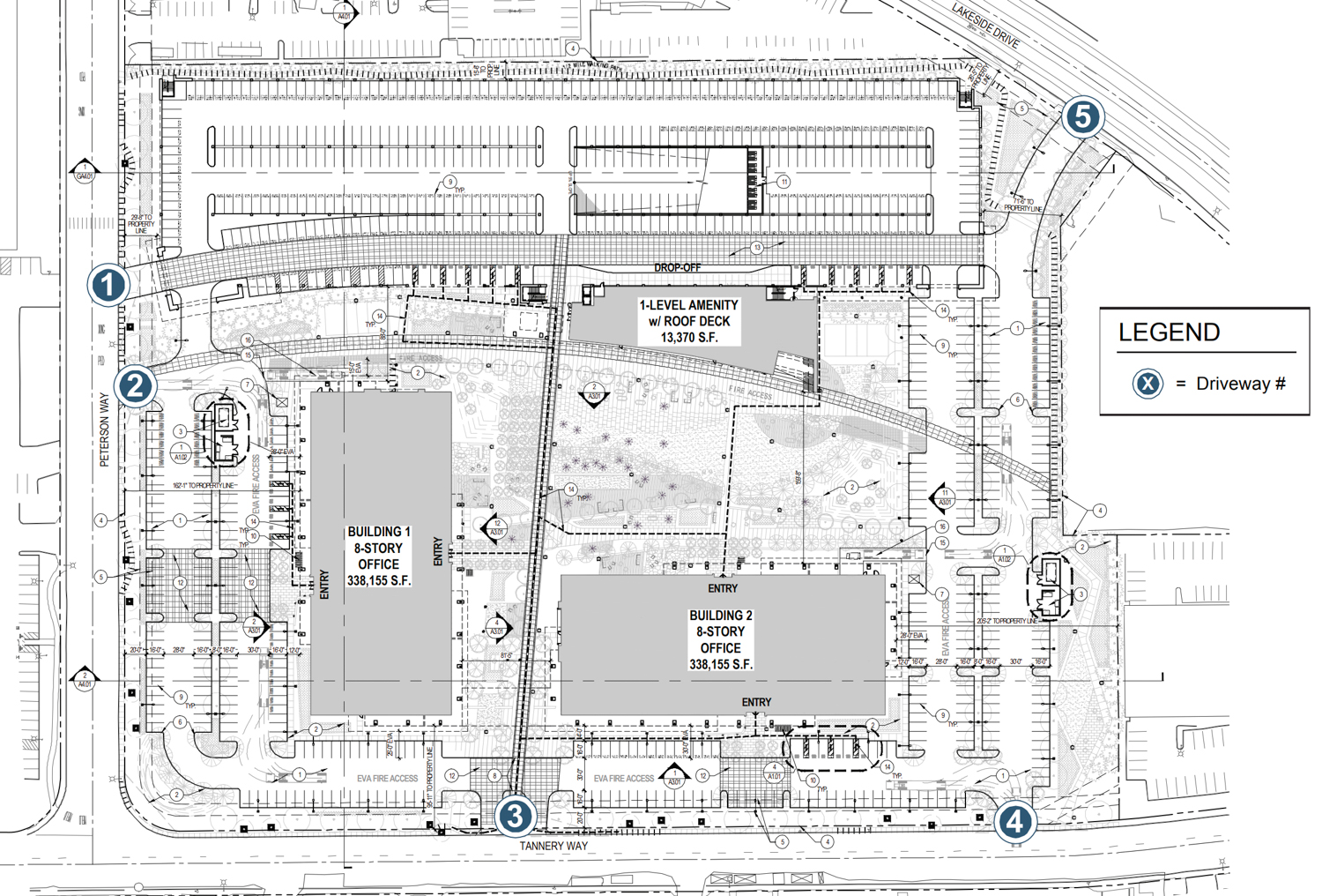 3625 Peterson Way site plan, map by ARC Tech