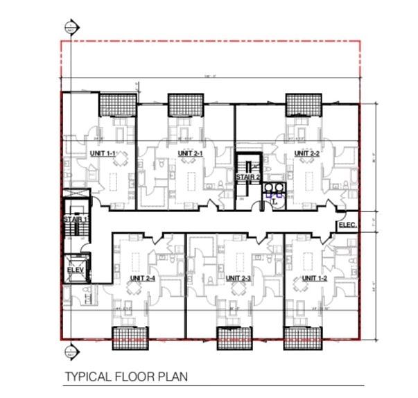 375 12th Street Typical Floor Plan