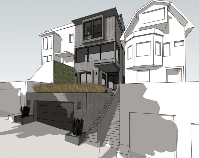 3757 21st Street pedestrian view, design by Knock Architecture and Design