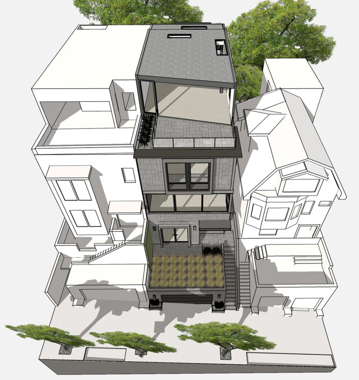 3757 21st Street rear yard, design by Knock Architecture and Design