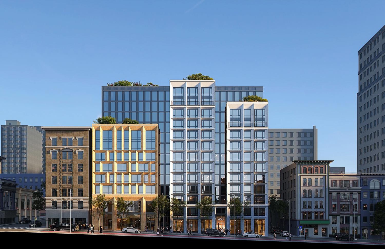 450 O'Farrell Street, rendering courtesy Forge Development Partners