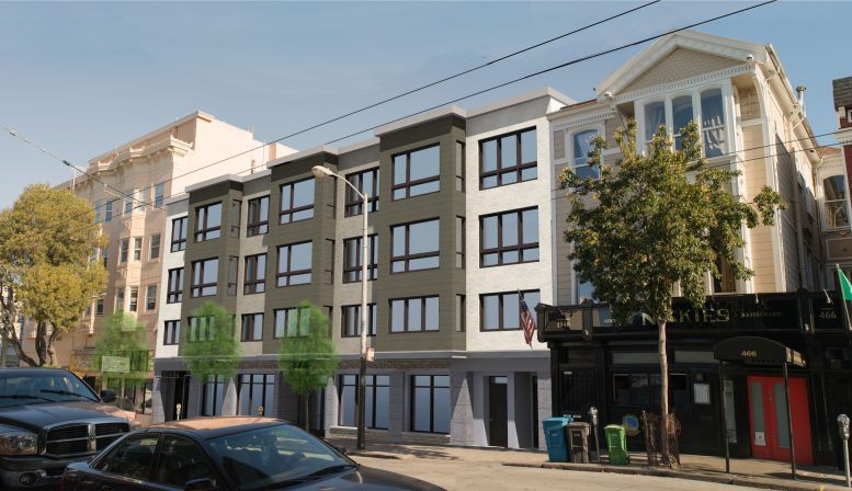 478-484 Haight Street looking northwest, rendering by Schaub Ly Architects