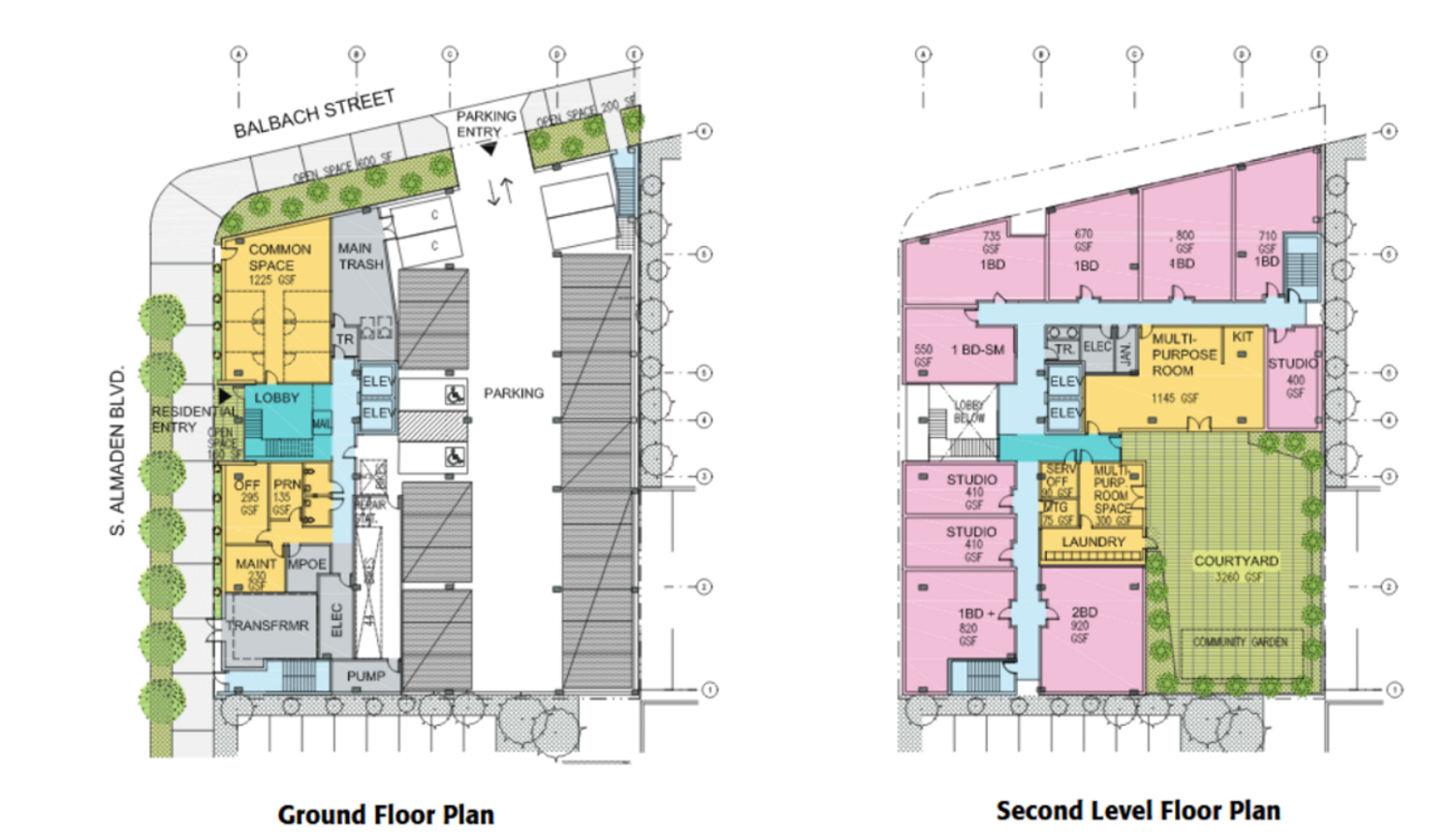 500 South Almaden Boulevard floor plan, design by LMS Architects
