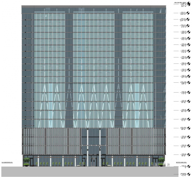 51 Notre Dame Avenue vertical elevation
