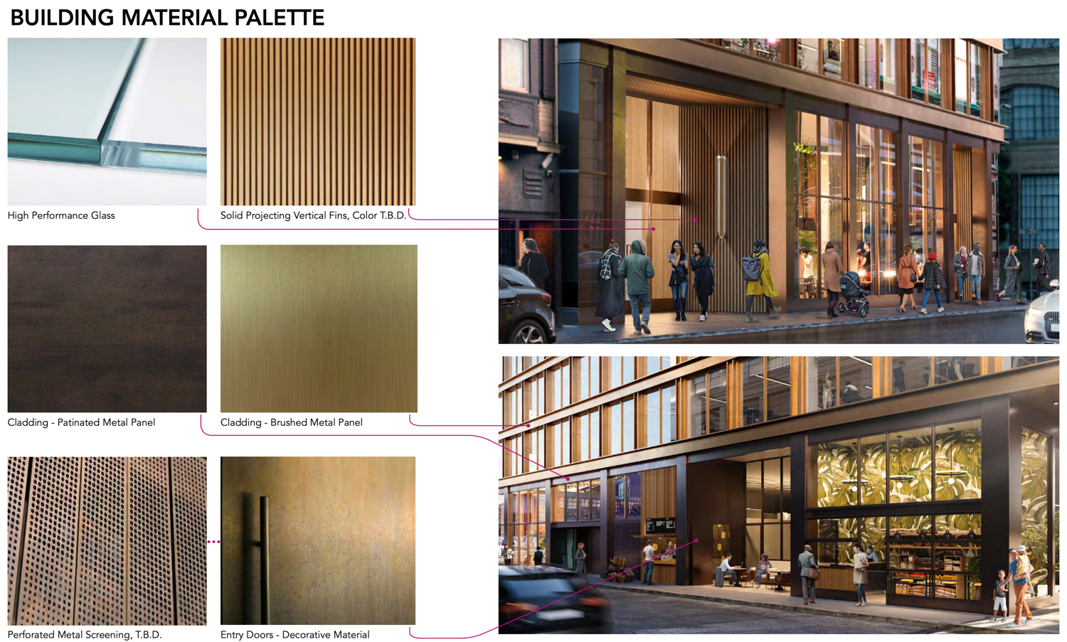 531 Bryant Street building material palette, by Handel Architects