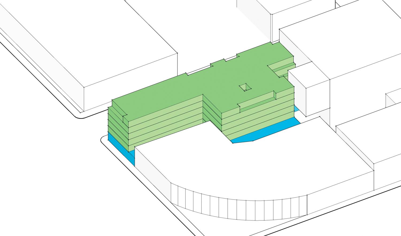 55 Francisco Street aerial elevation, illustration from TEF Design