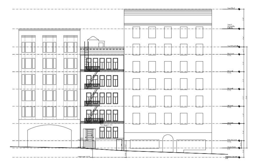 630 Geary Street Elevation