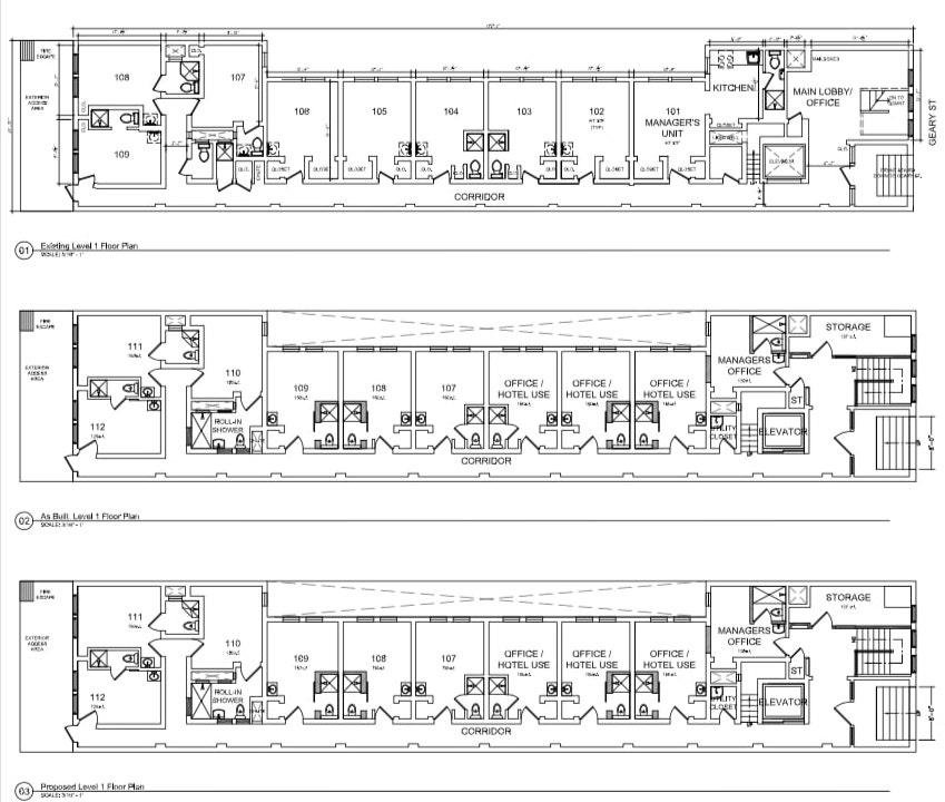 630 Geary Street First Floor Plans
