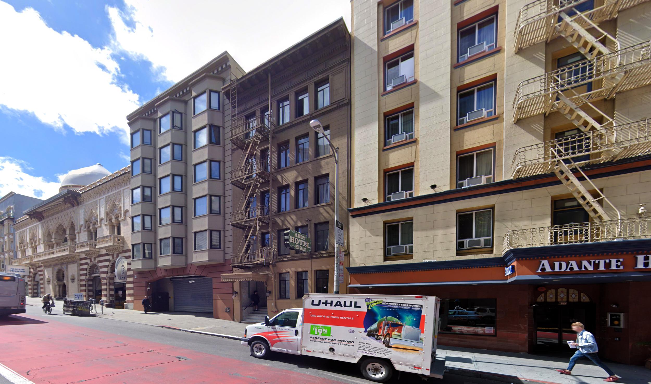 630 Geary Street, image via Google Street View