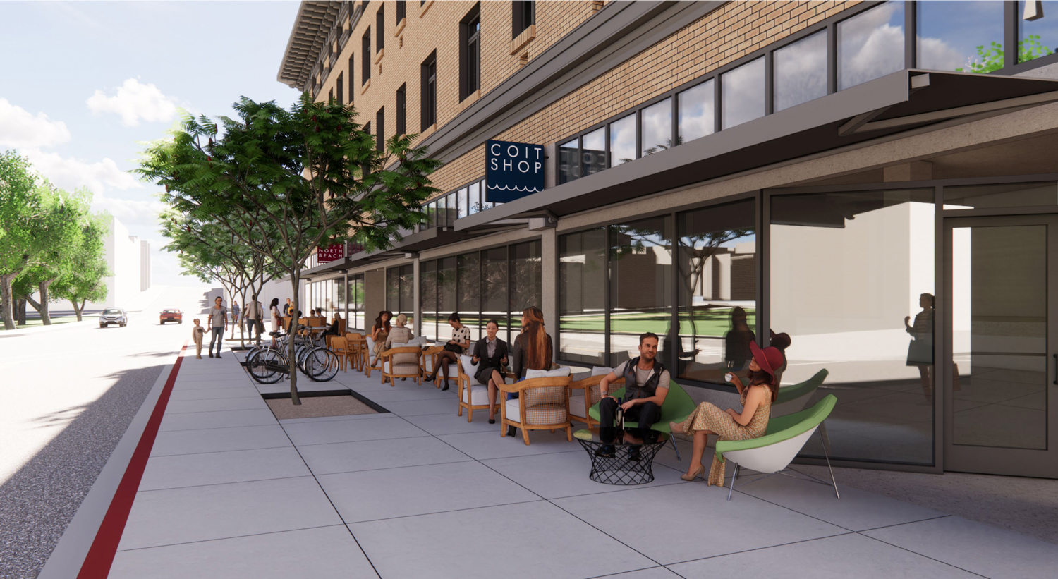 659 Union Street revitalized retails, rendering by Gould Evans