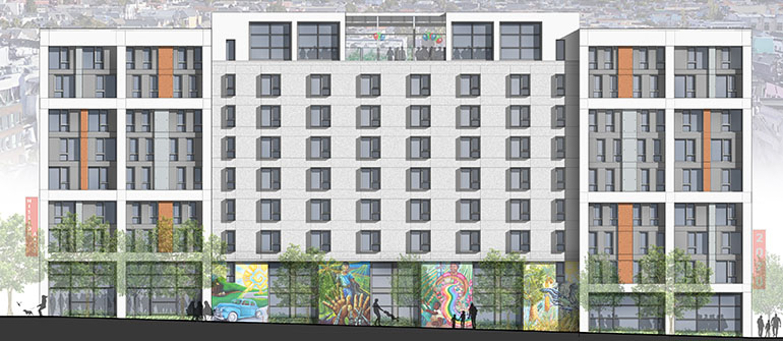 681 Florida Street vertical elevation, illustration by Mithun