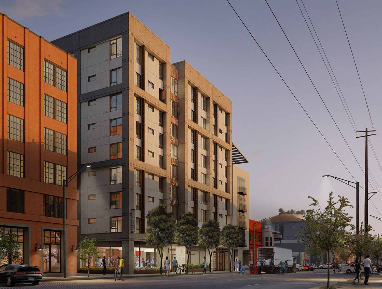 681 Florida Street view from Florida Street, rendering by Mithun