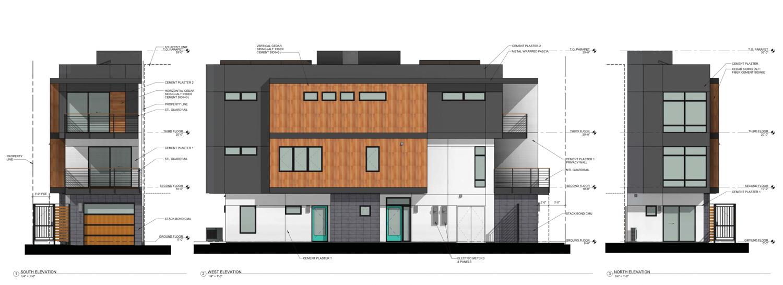 916-918 T Street vertical elevation, rendering by Ellis Architects
