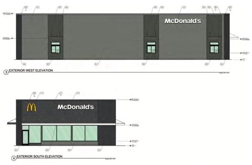 McDonald's Elevations at 3171 El Camino Avenue