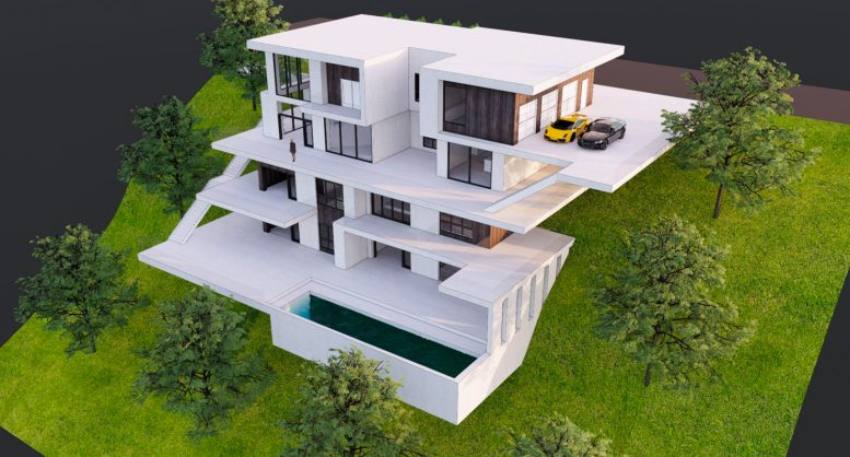 Oakville at 0 Keller Avenue downslope building, rendering by Collaborative Design Studio